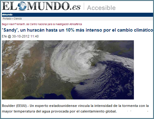 El hurac n sandy y la prensa turbamulta for Noticias actuales del mundo del espectaculo