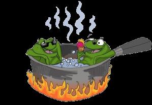 rana-hirviendo